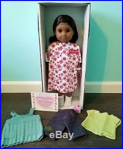 American Girl Doll Sonali New Head Partial Meet Outfit Hospital Box Gown