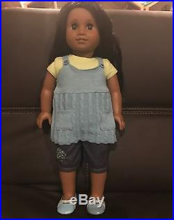 American Girl Doll Sonali With Complete Meet Outfit