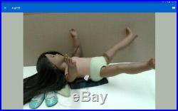 American Girl Doll Sonali with complete outfit and straightened hair