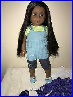 American Girl Doll Sonali with original outfit and extra pajamas