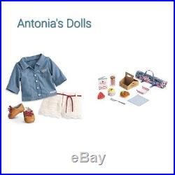 American Girl Doll Tenney Grant's Picnic Set & Picnic Outfit Tenny Grant