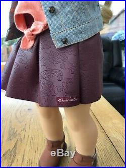American Girl Doll Tenney In Meet Outfit With Book Mint