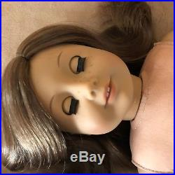 American Girl Doll brown hair blue eyes freckles 23 like your style outfit