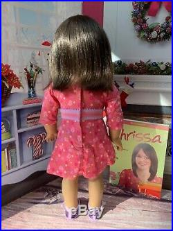 American Girl Doll of the Year 2009 Chrissa Maxwell in Meet Outfit with Book EUC