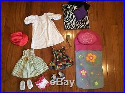 American Girl Dolls Huge Lot 2 Dolls And 24 Outfits