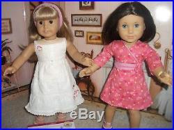 American Girl Dolls Lot Sonali, Gwen & Chrissa DOTY 2009 Full Meet Outfits