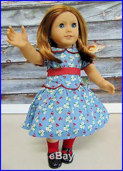 American Girl EMILY DOLL Molly Friend Red Hair Blue Eyes Meet Outfit Book AG Box