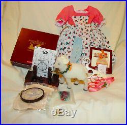 American Girl Felicity Birthday Spring Outfit Sampler Needlepoint Poise Lamb Lot
