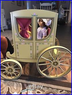 American Girl Felicity Doll Carriage Lot Horse Penny Mini Books Purse Outfit