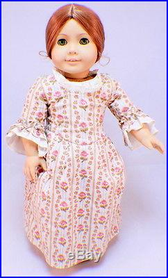 American Girl Felicity Doll Original outfit Rose Garden Gown shoes and slip