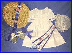 American Girl Felicity Summer Dress Outfit COMPLETE