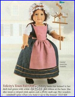American Girl Felicity Town Fair Outfit and Windmill NEW In Box RARE Collectible