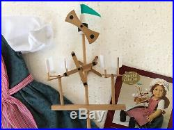 American Girl Felicity Town Fair Outfit and Windmill Toy NEW no box RARE