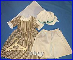 American Girl Felicity Work Dress Gown Outfit with Cap, Apron, Kerchief COMPLETE