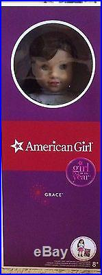 American Girl GRACE THOMAS DOLL OF THE YEAR 18 NEW+CITY OUTFIT+ Book FAST SHIP