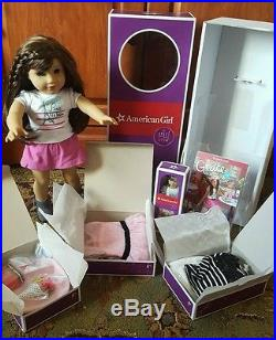 American Girl GRACE THOMAS Doll Bracelet Book NEW Box Gifts mini & 2 outfits