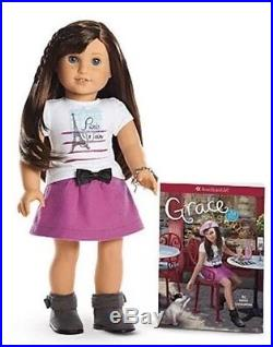 American Girl GRACE THOMAS Doll + Outfits & Accessories Lot NIB