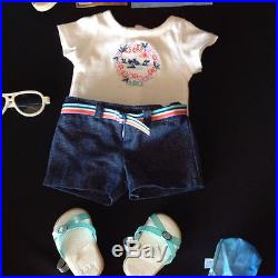American Girl Goty 2011 Kanani Lot Paddle Board Outfits Used
