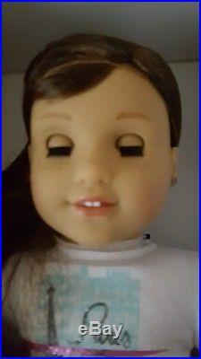 American Girl Grace Thomas, Pierced ears, 2015 GOTY COAT, LUGGAGE, OUTFITS NIB
