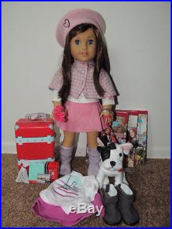 American Girl Grace withmeet outfit, accessories, dog, tarvel set, books, outfit