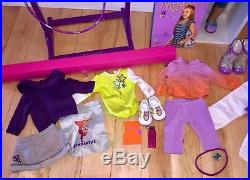 American Girl Gymnast McKenna HUGE LOT Doll, Bar, Beam, Hoop, Outfits Retired