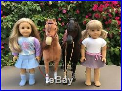 American Girl Horse Lovers Lot (Dolls, Horses, Stables, Saddles + Extra Outfits)