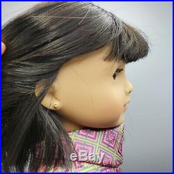 American Girl Ivy Ling 18 Doll with Meet Outfit Earrings Book & Box / Retired