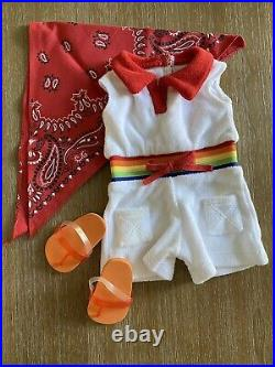 American Girl Ivy Ling's Rainbow Romper Outfit- RARE- BNIB Complete