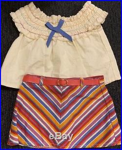 American Girl Julie Doll 1970s Classic Meet Outfit Original Box Book Clothes