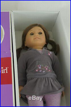 American Girl Just Like You 18 Doll Brown Hair Blue Eyes Freckles With Box Outfit