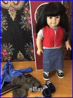 American Girl Just Like You Asian 4 Pleasant Co. 749/76 with2 Outfits/2pairs Shoes