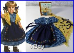 American Girl KIRSTEN CHECKED TRAIL DRESS APRON OUTFIT Pleasant Company Clothes