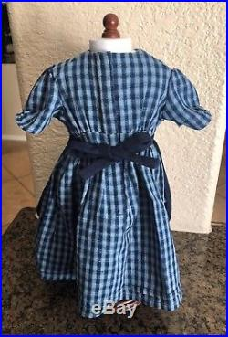 American Girl KIRSTEN CHECKED TRAIL DRESS APRON OUTFIT Pleasant Company NEW