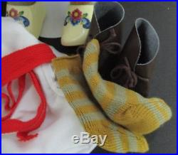 American Girl KIRSTEN Doll with Baking St. Lucia Meet Outfit Wreath RETIRED LOT