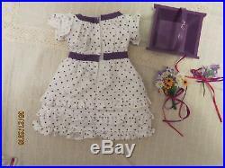 American Girl KIRSTEN Midsummer Outfit Dress Flowers Wooden Basket