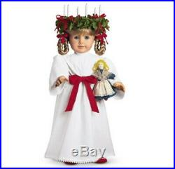 American Girl KIRSTEN'S DOLL + ST LUCIA OUTFIT + CHRISTMAS WREATH + Accessories
