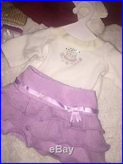 American Girl KIT Retired Outfit Holiday Birthday, Go Anywhere, Accessories LOT