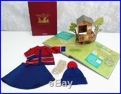 American Girl KIT'S TREE HOUSE OUTFIT + KITS WORLD BOOK Sweater Hat Cards BOX +