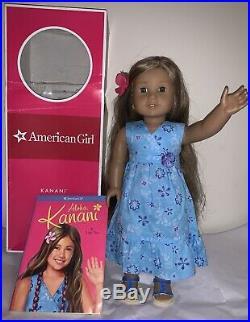 American Girl Kanani Doll 2011 GOTY Meet Dress Outfit Book Original Box Hawaii