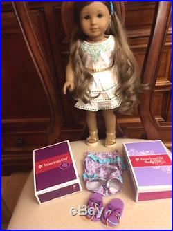American Girl Kanani Doll EUC Two New Outfits with Boxes Beautiful Girl