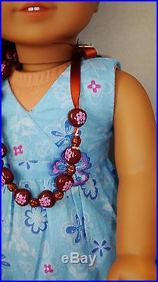 American Girl Kanani Doll GOTY 2011 Complete Meet Outfit Brand New Head & Flower