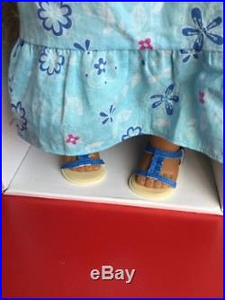 American Girl Kanani Doll Meet Outfit with Box Flower Necklace