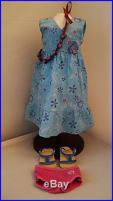 American Girl Kanani GOTY 2011 Complete Meet Outfit and Brand New Head & Flower