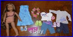 American Girl Kanani GOTY Doll Hawaiian Girl of Year w Meet & Outfits Lot EUC