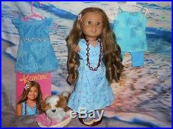 American Girl Kanani In Her Meet Outfit Also Her Party Dress/pj, Shoes & Barksee