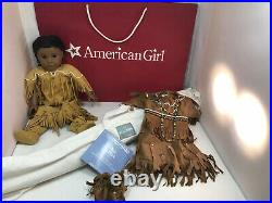 American Girl Kaya Doll Native American+ Original Outfit+ Teepee+ Clothes +Bag
