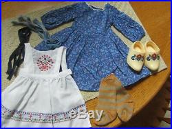 American Girl Kirsten BAKING OUTFIT Includes Faux Wooden Shoes