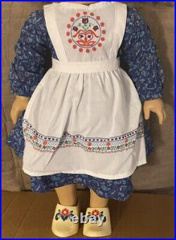 American Girl Kirsten Baking Outfit Wooden Shoes Clogs No Ribbons RETIRED HTF
