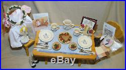 American Girl Kirsten Birthday School Outfit Table Chair Rowe Pottery Sari Kit +
