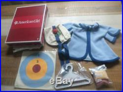 American Girl Kirsten Larson's Recess Outfit Hanger Box Bean Bags Rare Excellent